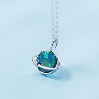 A'ROCH(エーロック) - 925 Sterling Silver Planet Pendant Necklace