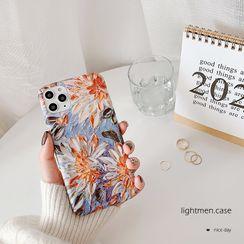 Handy Pie - Floral Print Phone Case - iPhone 11 Pro Max / 11 Pro / 11 / XS Max / XS / XR / X / 8 / 8 Plus / 7 / 7 Plus / 6s / 6s Plus