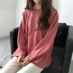 Moon City - 純色長袖T恤