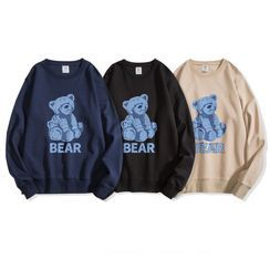 JECKO - 长袖熊印花圆领卫衣