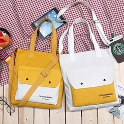 ANEMOI - Canvas Front Pocket Tote Bag