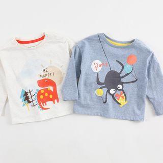 Marc&Janie - Kids Cartoon Print Long-Sleeve T-Shirt
