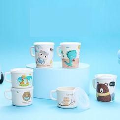 Worthbuy - Animal Print Cup / Mug with Lid