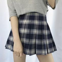Dute - Minifalda a cuadros plisada
