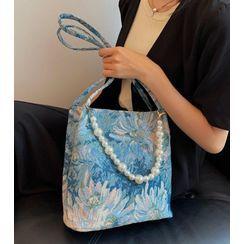 OLGALOG - 碎花仿珍珠手提袋