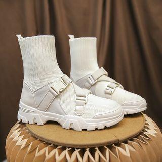 Vindler(ヴィンドラー) - Platform Ankle Sock Boots