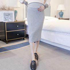 Ikanox - Maternity High-Waist Pencil Skirt