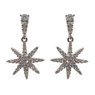 True Glam - Rhinestone Star Dangle Earring