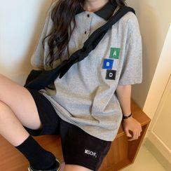 Juku Girls - Color Block Short-Sleeve Polo Shirt
