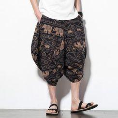 Andrei - Pattern Cropped Harem Pants