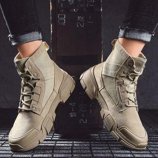 JACIN - Lace-Up Short Boots