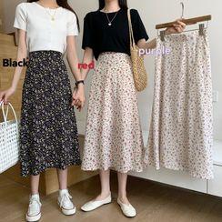 Sisyphi - Floral Midi Skirt