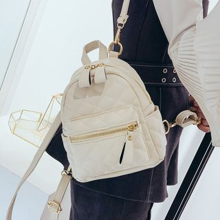 della renna - Quilted Faux Leather Mini Backpack