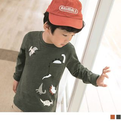 OrangeBear - Kids Long Sleeve Printed T-Shirt