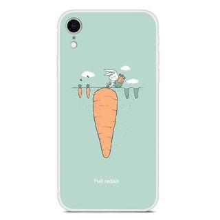 POEEM - Printed Transparent Mobile Case - iPhone XR / XS / X / 8 / 8 Plus / 7 / 7 Plus / 6s / 6s Plus