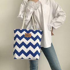 Koniga - 山形纹帆布手提袋
