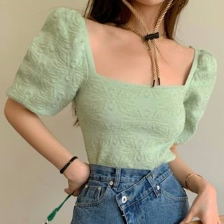 Tonni's - 短袖纯色衬衫