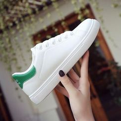 FRAISO - Faux Leather Lace-up Sneakers