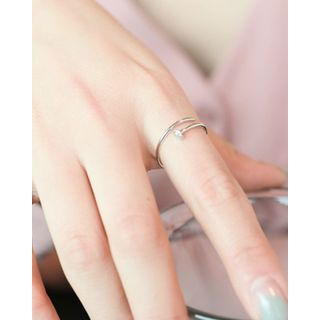 Miss21 Korea - Silver Open Nail Ring