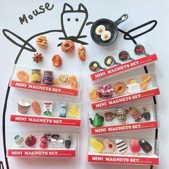 Oknana Home - Set of 5: Food Resin Fridge Magnet