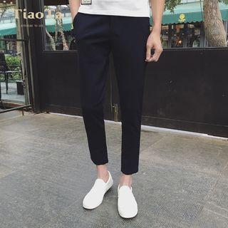Wewewow - Cropped Straight-Fit Pants