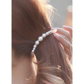 kitsch island - Faux-Pearl Hair Clamp