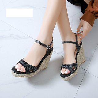 Cinnabelle - Ankle-Strap Wedge-Heel Sandals