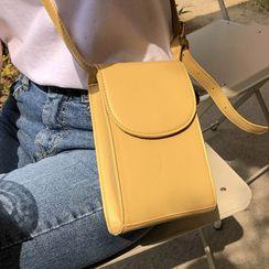 MERONGSHOP - Flap Pleather Shoulder Bag