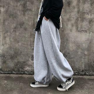 Shineon Studio - 纯色宽腿慢跑裤