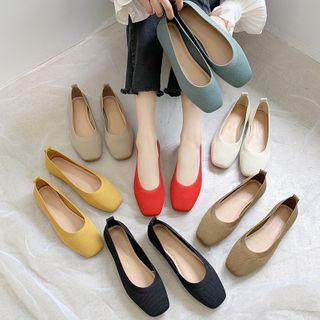 Wello - Square-Toe Knit Flats