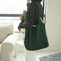 Milha - Lettering Velvet Tote Bag