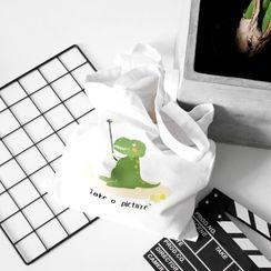 Cady - Print Canvas Tote Bag