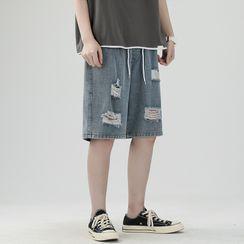 POSI - Distressed Denim Shorts
