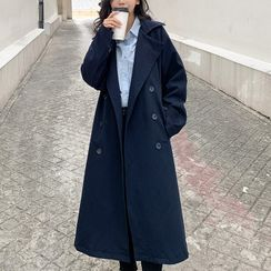 Hassel - Double-Breasted Midi Trench Coat
