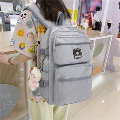 Sosara - Patched Laptop Backpack / Charm / Set
