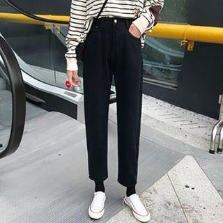 Canolape - 高腰九分直腿牛仔裤