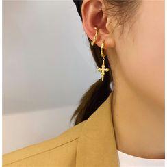 Sexy Tokyo - Cross Drop Earring / Ear Cuff
