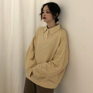 Porstina - 情侣装长袖马球衬衫