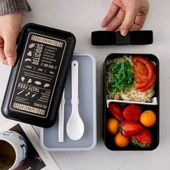 Hashi - Double Decker Lunch Box / Lettering Lunch Bag