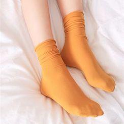 光影紀 - 純色堆堆襪