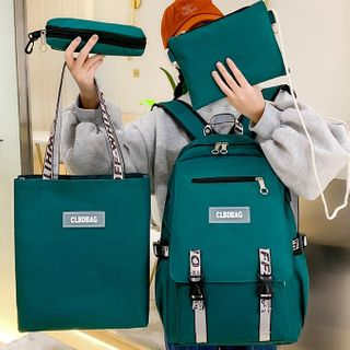 Tango Sky - Set: Canvas Backpack + Tote Bag + Crossbody Bag + Pencil Case