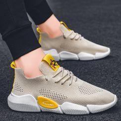 JACIN(ジャシン) - Mesh Lace-Up Sneakers