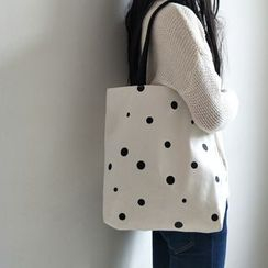 Basaran - Dotted Canvas Tote Bag