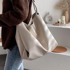 Kunado - Faux Leather Zip Tote Bag