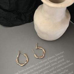 Calypso - Twisted Alloy Hoop Earring