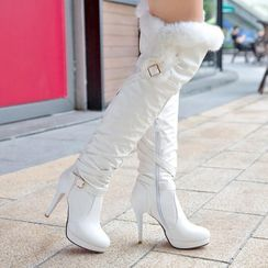 Aegina - Platform High Heel Over-The-Knee Boots