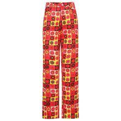 Cincine - Flower Print Straight Leg Pants