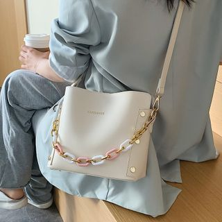Skyglow - Chain Crossbody Bucket Bag
