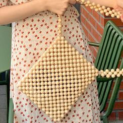 FROMBEGINNING - Wooden Bead Shopper Bag
