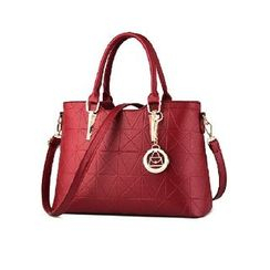 Aquilegia - Faux Leather Print Handbag